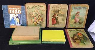 Group Lot Antique And Vintage Books