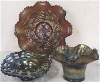 Vintage Carnival Glass Bowls Candy Dishes