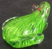 Whimsical Art Glass Frog