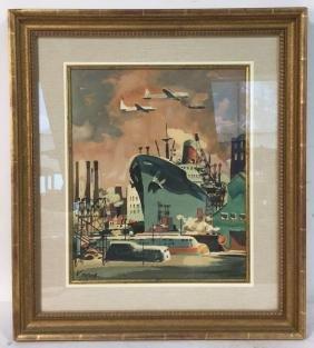 DON KINGMAN Signed Shipyard Serigraph