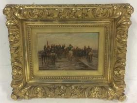 SAVOROF Original Painting Of Military Review