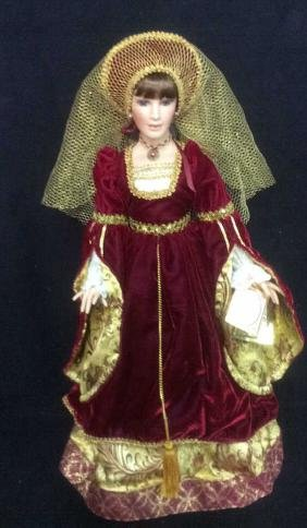 Porcelain Anne Of Cleves Doll By Alberon Dolls