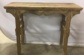 Antique Asian Style Handmade  Alter Table Carved