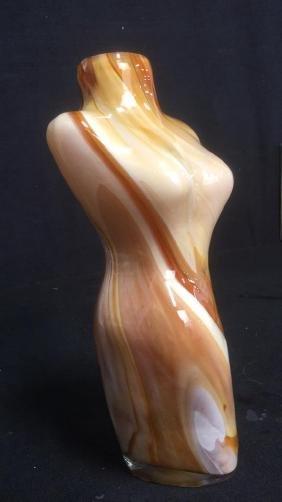 Female Torso Art Glass Sculpture Vase