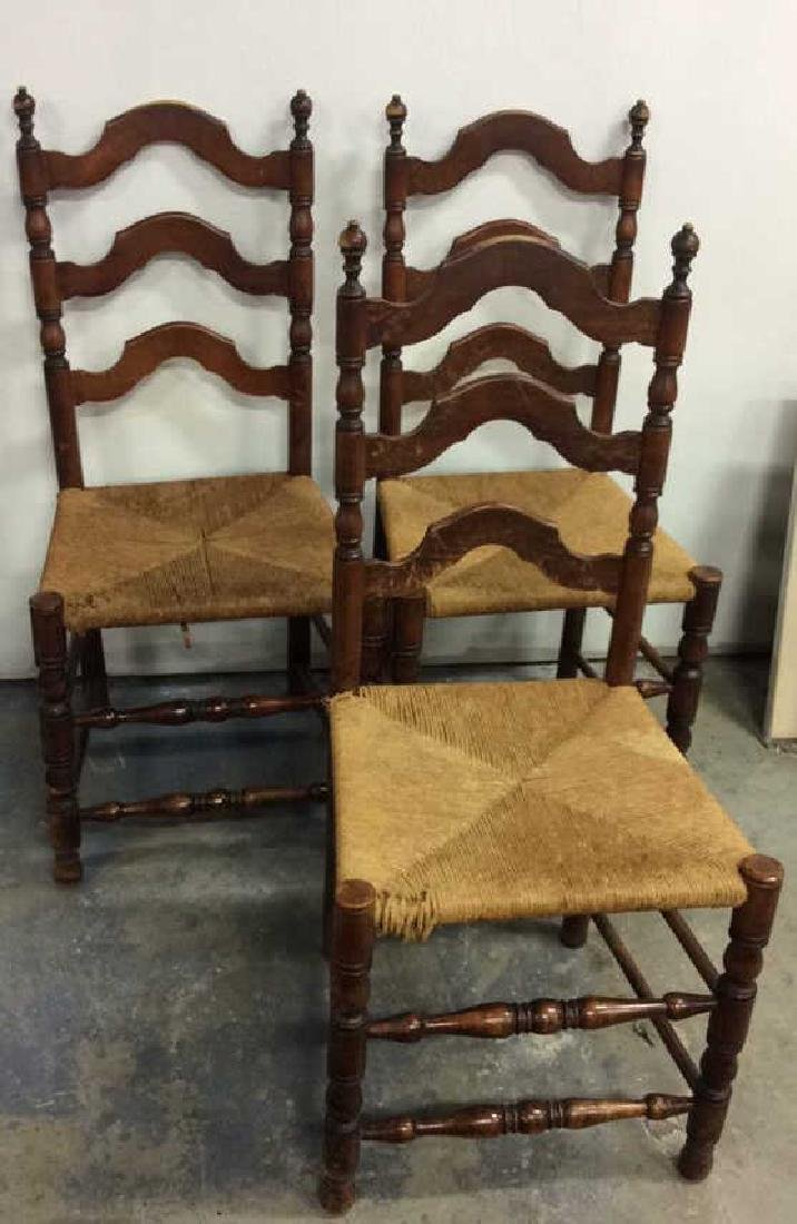 3 Antique French Side chairs