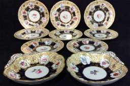 Antique Royal Blue Gold English Porcelain Set
