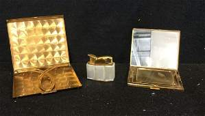 Group Lot 3 Vintage Compacts and Lighter