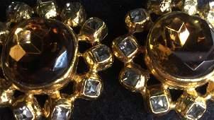 Graziano Signed Estate Jewelry Earrings