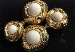 LES BERNARD Estate Costume Jewelry Dangle Earrings