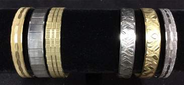 Group 6 Assorted Gold Silver Tone Bracelets