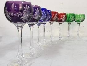 Group Of 8 5th Avenue Crystal Ltd Wine Glasses