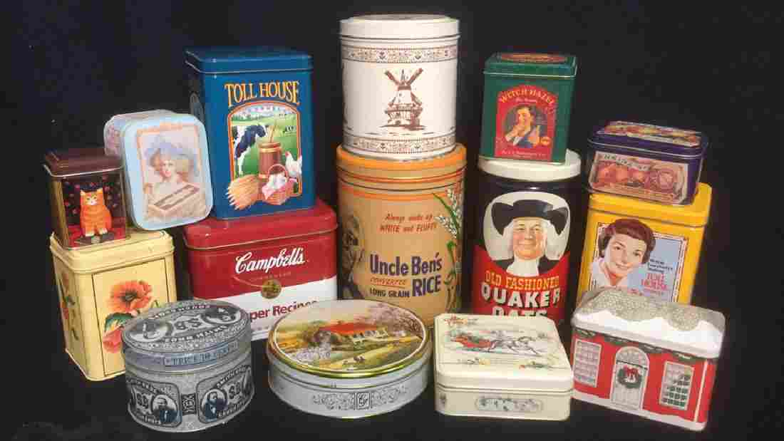 Group Lot 15 Vintage and Collectible Kitchen Tins