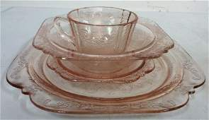 Lot 16 Pink Depression Dishes