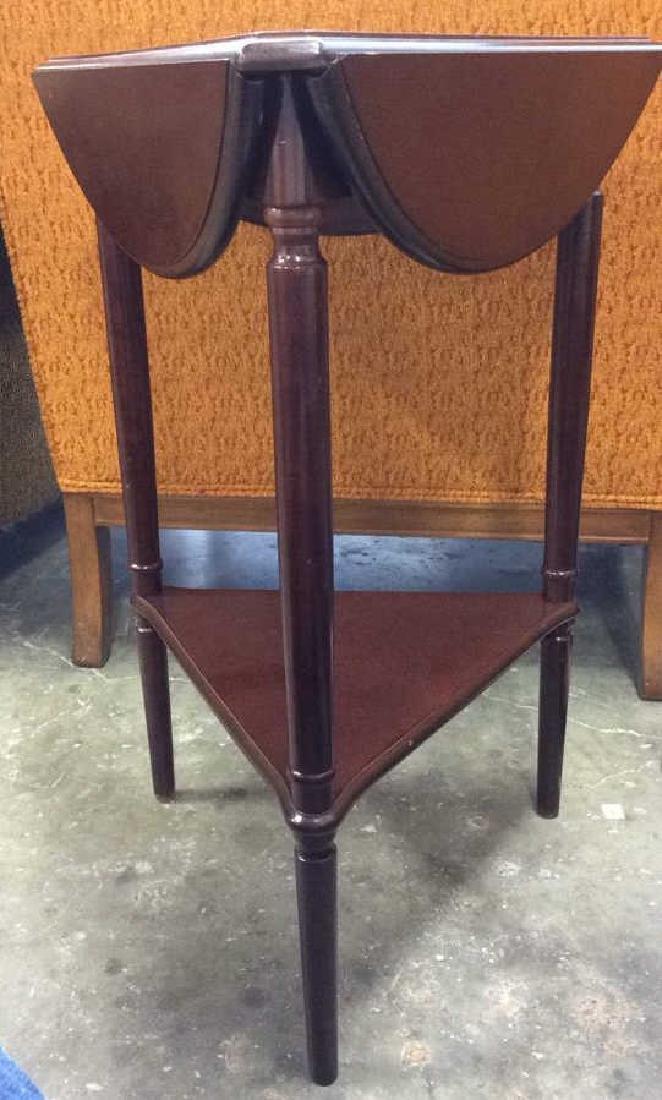 Wooden Triangular Side Corner Drop Leaf Table