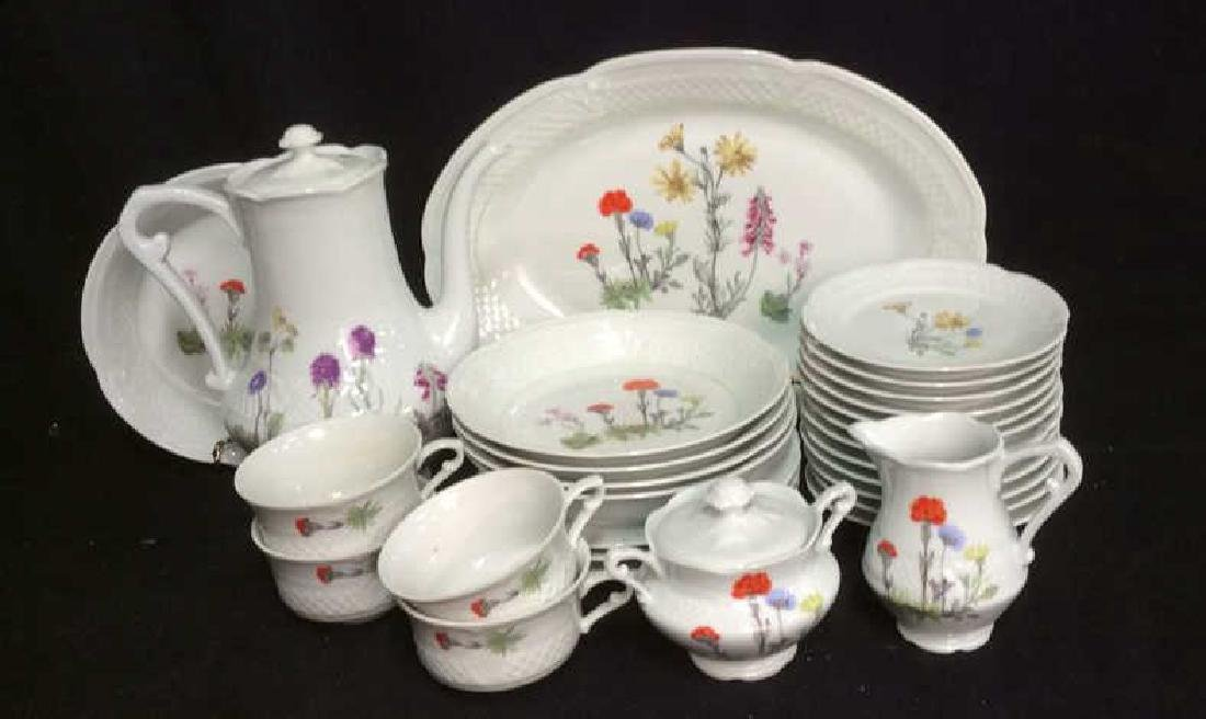 Group 28 LOURIOUX Porcelain Dishes Mixed Patterns