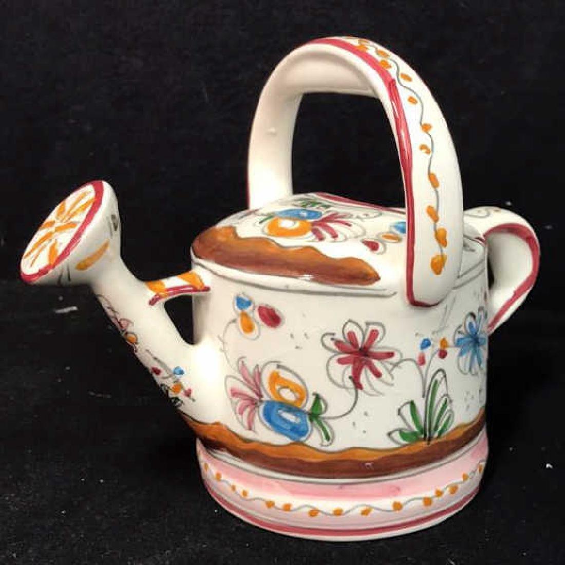 Ceramic Hand Painted Ornamental Watering Pot