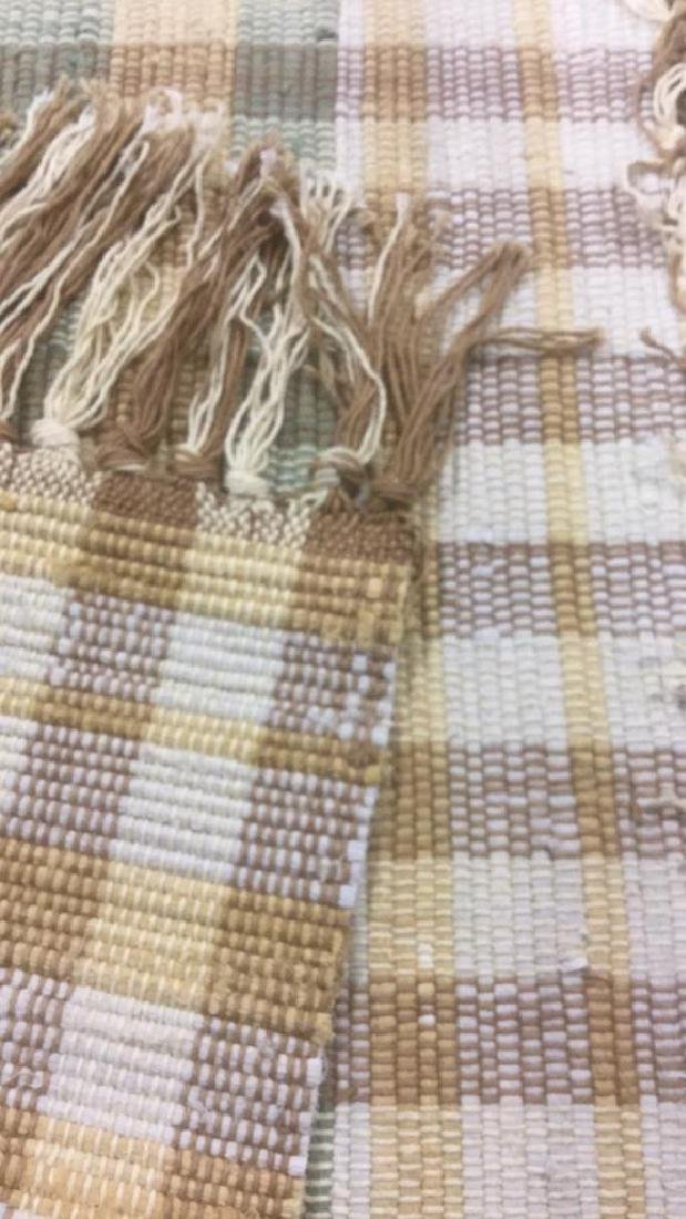 2 Matching Hand Woven Area Rugs