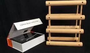 2 Wine Accessories Rack and Lever Corkscrew