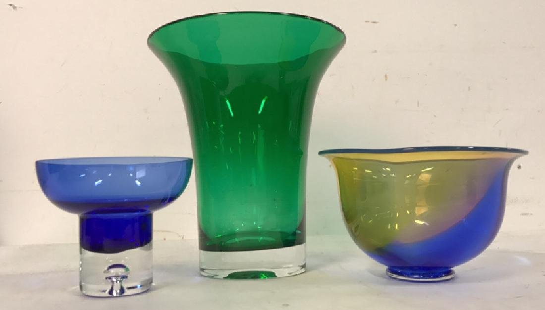 Group 3 Art Glass Vase and Bowls