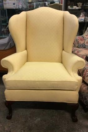 Ethan Allen Upholstered Wing Chair