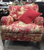 Custom Down Filled Upholstered Arm Chair