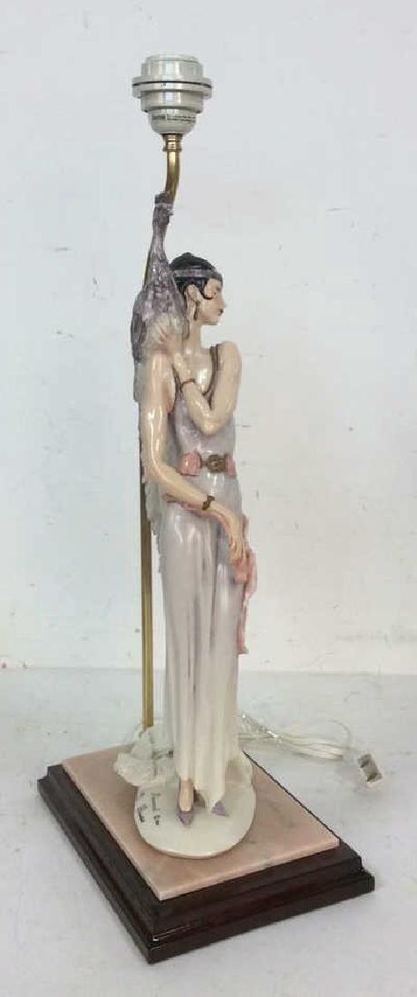 G. ARMANI Signed Art Deco Figural Porcelain Lamp