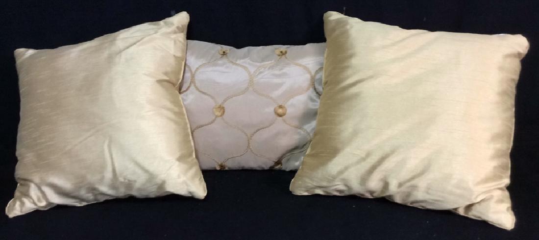 Group 3 Gold Sheen Throw Pillows