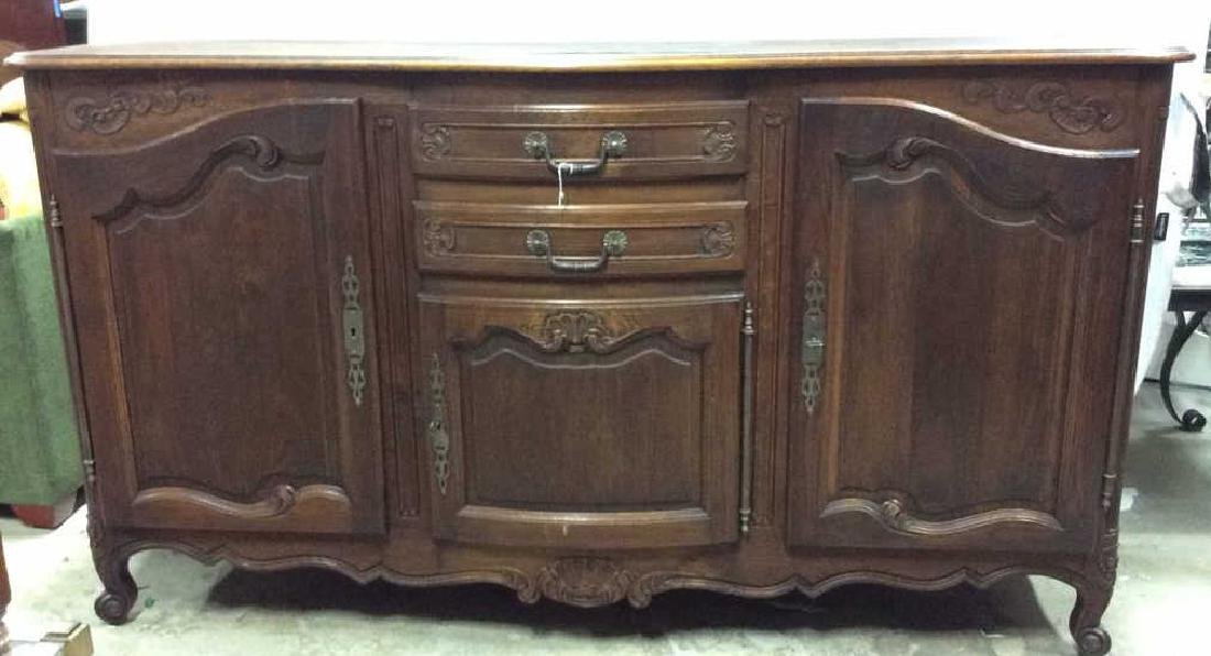 Antique French Country Dining Buffet Sideboard