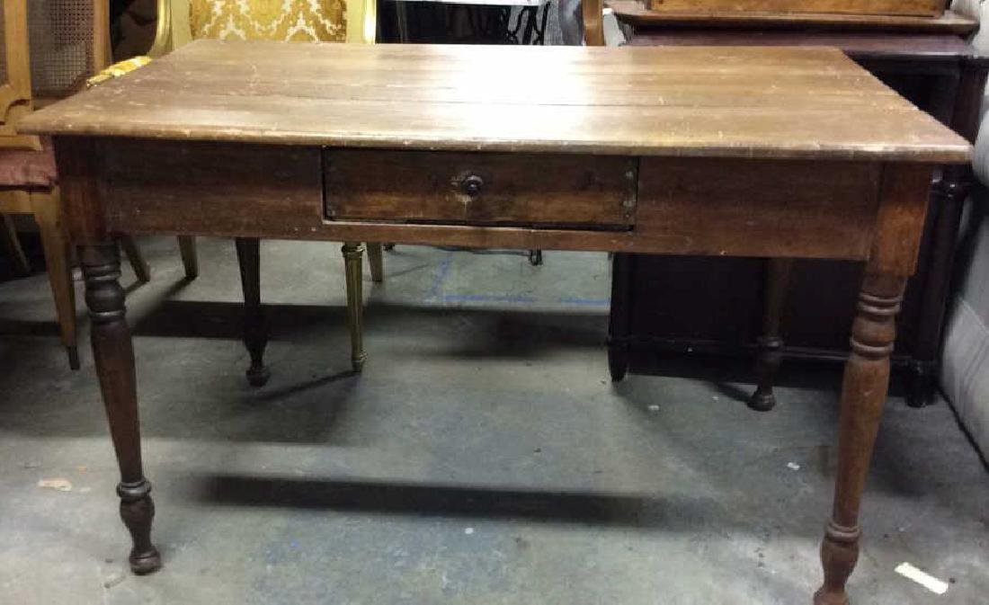 Antique Hand Hewn Farm Table
