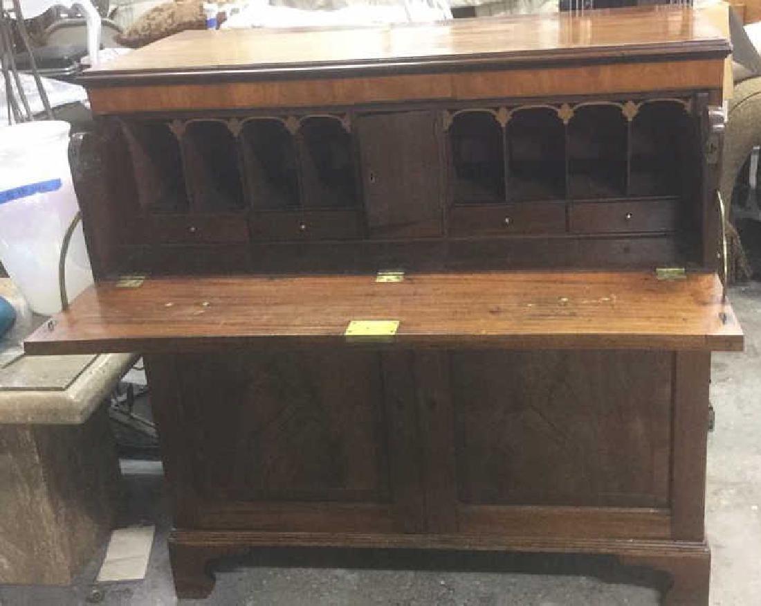 Antique Drop Front Secretary Desk >> Antique Drop Front Secretary Desk Chest