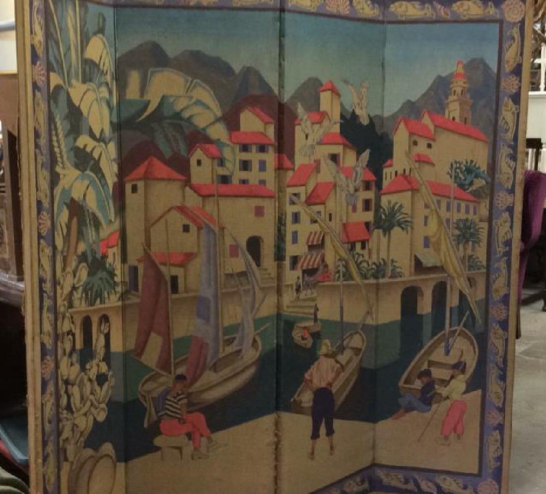 Audrey Weber English Art Deco Tapestry Screen