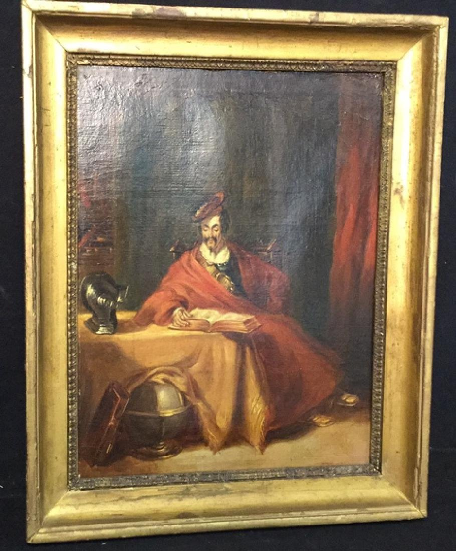 Antique Framed Oil On Canvas Don Quixote