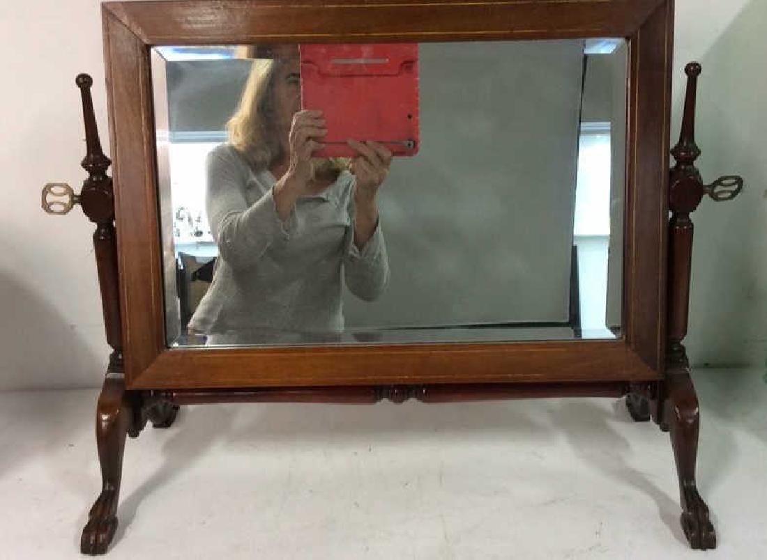 Antique Tilt Dresser  Mirror on Stand
