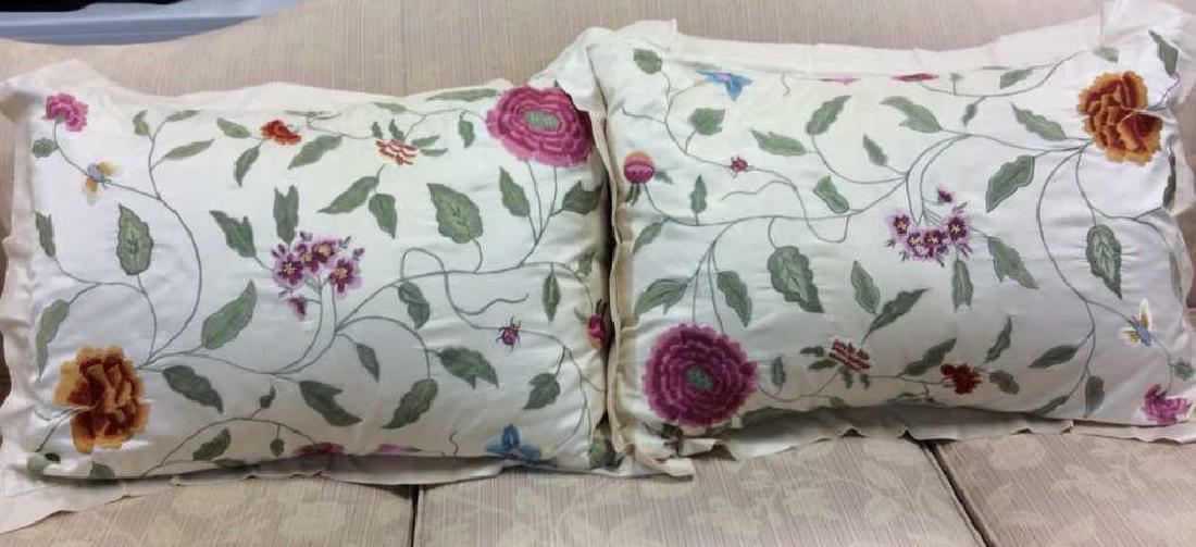 Pair Pierre Deux Throw Pillows
