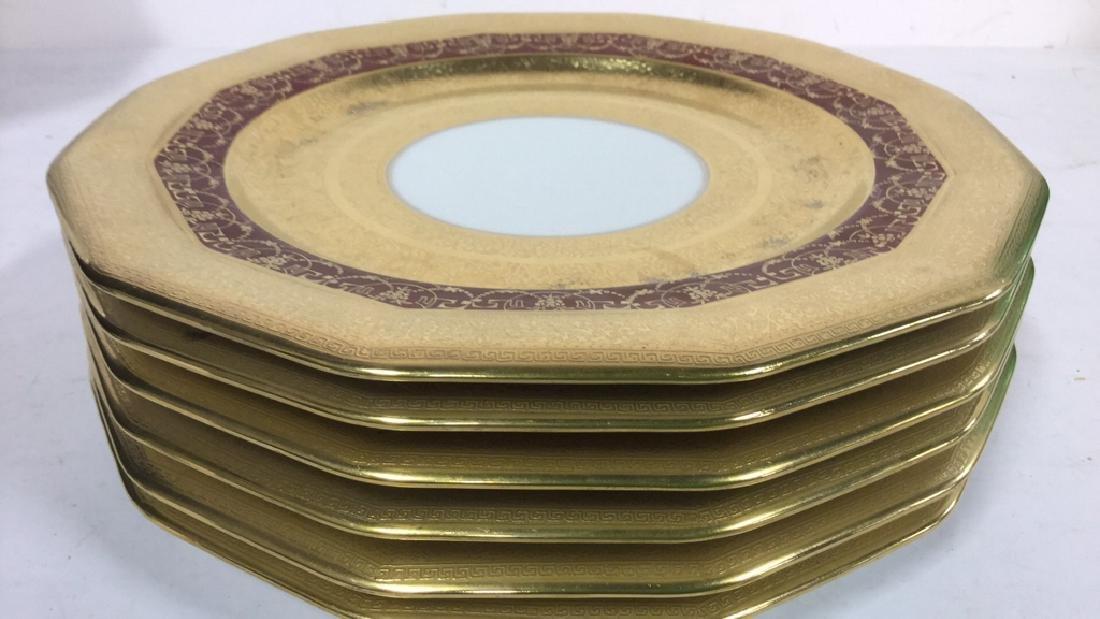6 Vintage LIMOGES Porcelain Hand Painted Plates