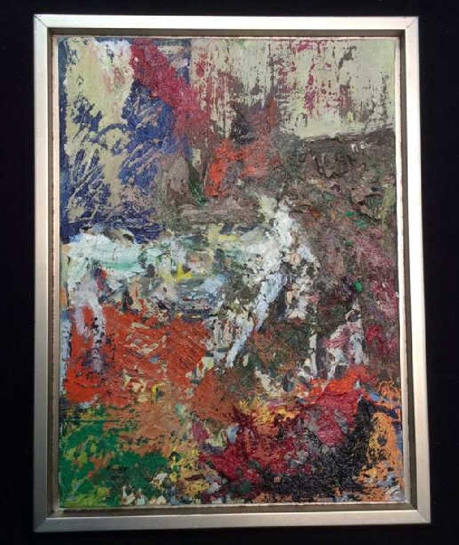 Abstract Textured Oil Painting Framed