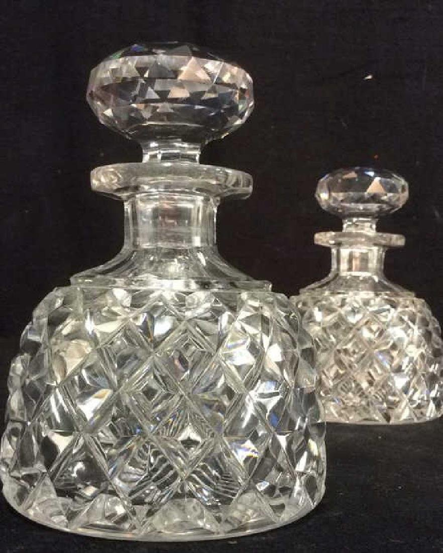 Pair Crystal Ship Decanters