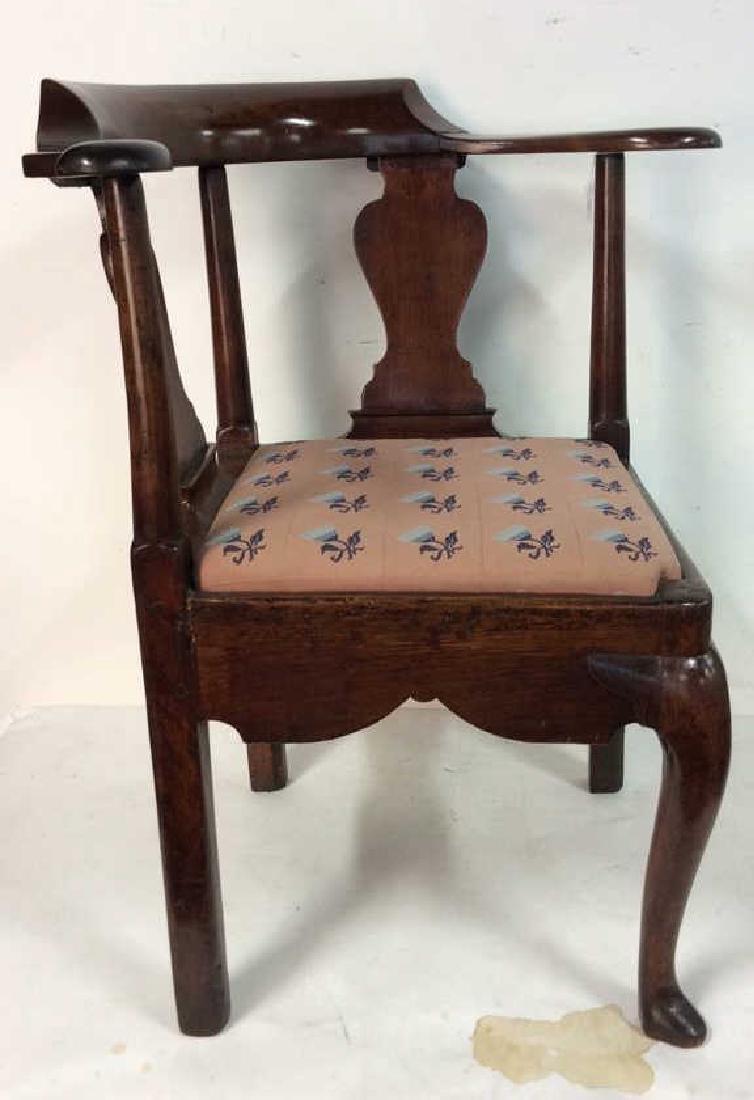 Antique Chestnut Roundabout Corner Chair