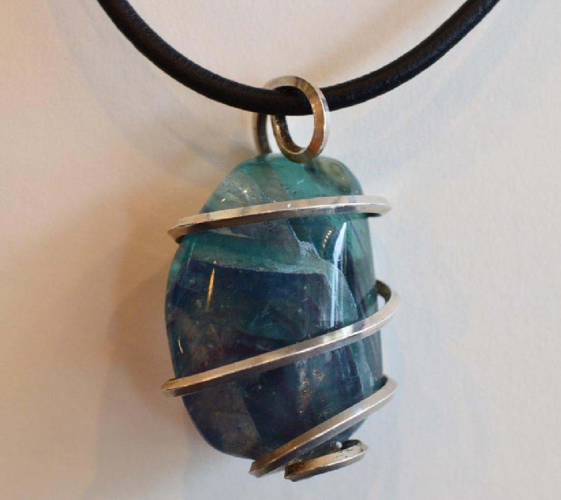 """16"""" Blue/Green Apatite Choker Style Necklace"""