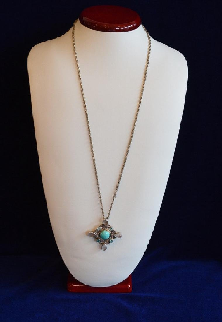 """Ladies Sterling Silver Pin/Pendant 26"""" Necklace"""