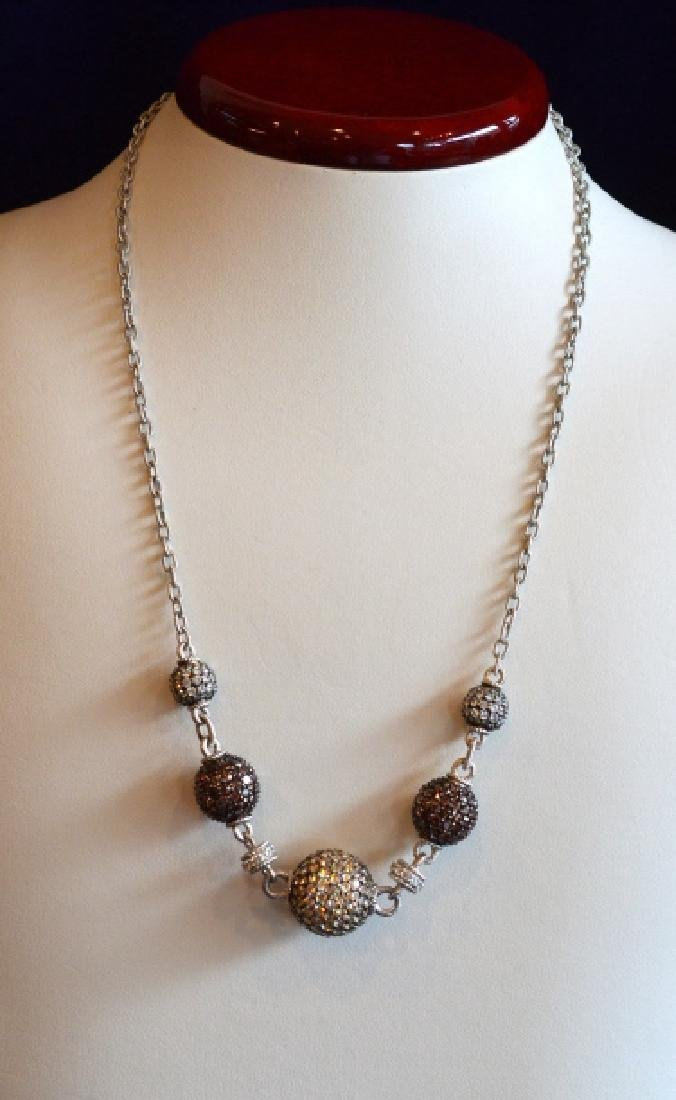 """Judith Ripka 18"""" Sterling Silver Necklace"""