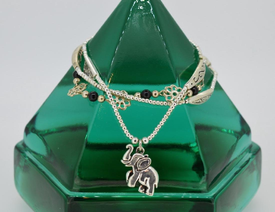 Assortment of Sterling Silver Bracelets with Charm