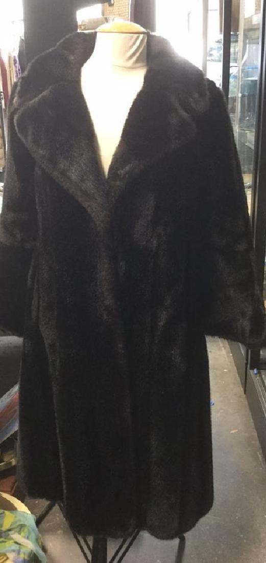 Black/Brown Faux Fur Coat