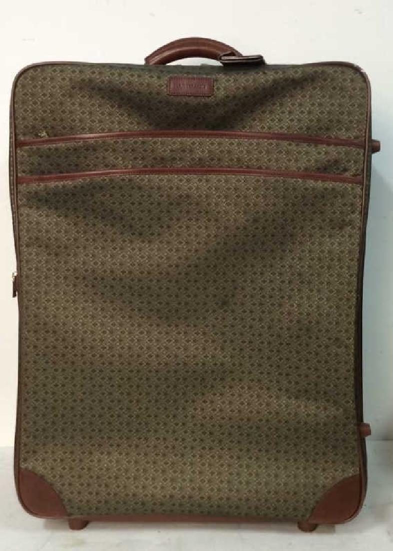 HARTMANN Gold Toned, Leather Trim Suitcase