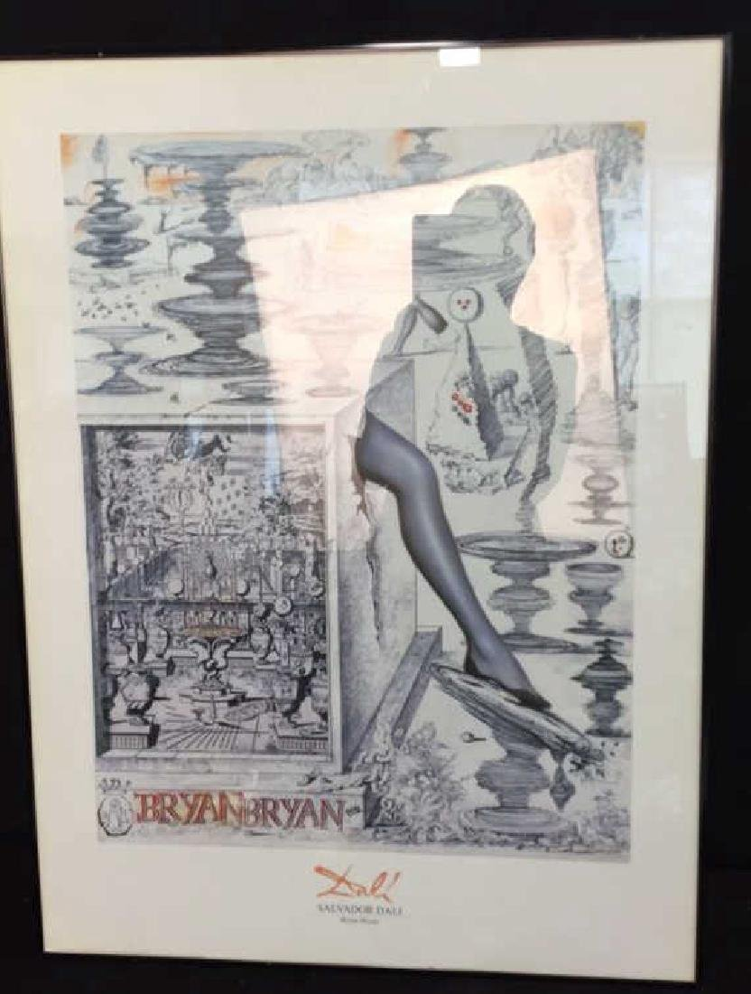 Framed Salvador Dali Bryan Bryan Print