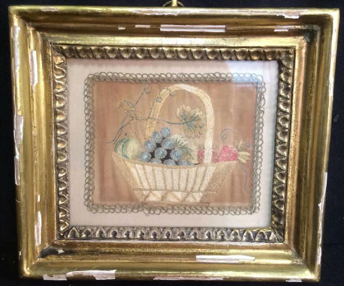Framed Antique Fabric Artwork