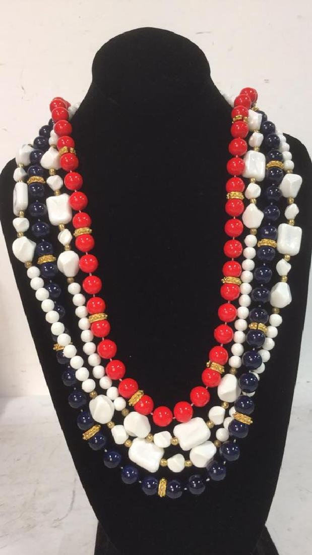 Lot 3 Estate Costume Beaded Necklace Jewelry