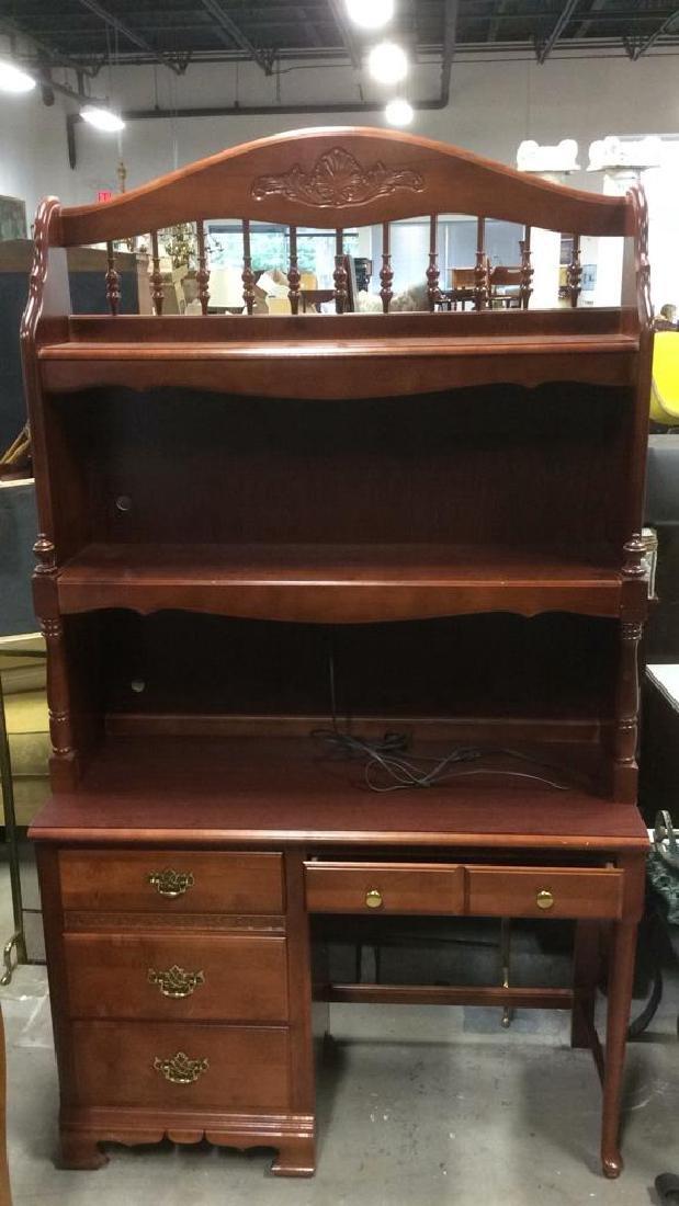 STANLEY FURNITURE Wooden Desk w Hutch