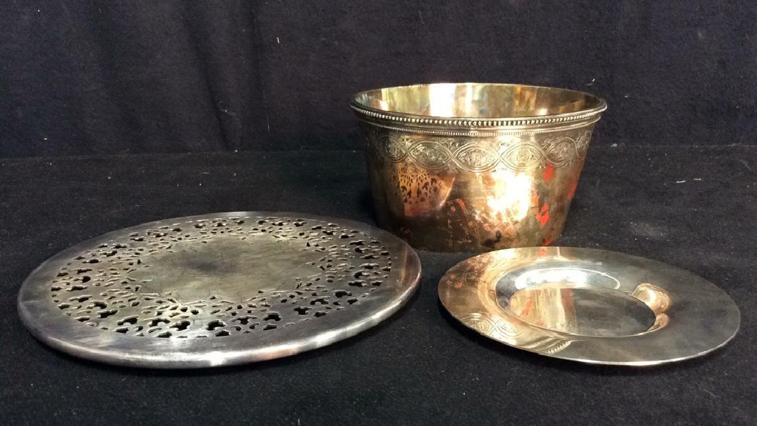 Group 3 Vintage Silverplate Tabletops