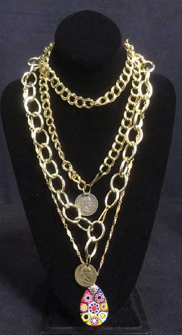 Lot 3 Estate Costume Jewelry Necklaces
